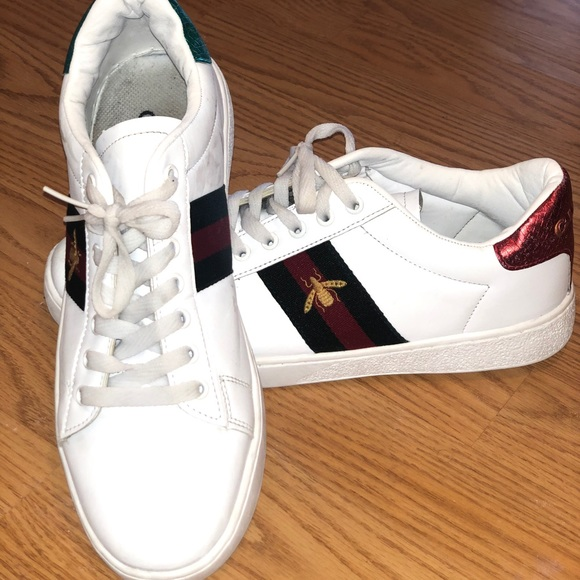 Used Gucci New Ace Embroidered Sneakers